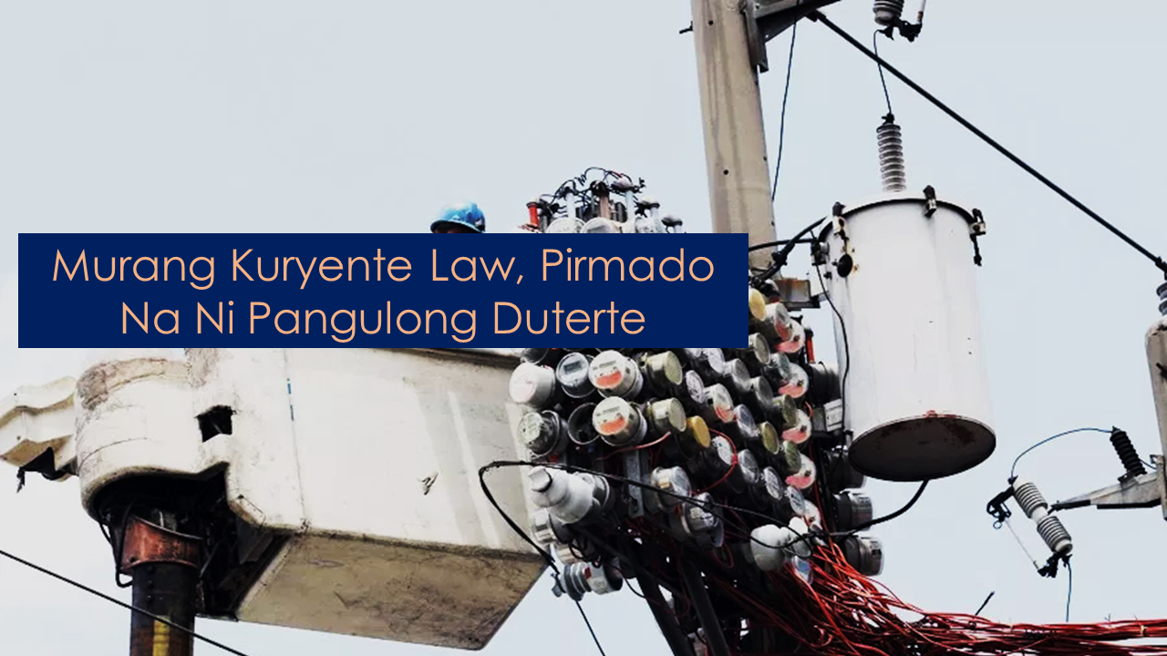 "President Rodrigo Duterte has signed RA 11361 into a law on August 8 which seeks to reduce the cost of electricity as well as new law that aims to keep all power line corridors free of any obstructions that may disrupt the supply of electricity from power plants to consumers.        Ads    President Rodrigo Duterte has signed a law reducing electricity cost by allocating the government share from the Malampaya natural gas project in Palawan for the payment of debts of the National Power Corporation (Napocor).     The government share amounting to P208 billion  of the Malampaya funds will be allocated to pay for the stranded contract costs and stranded debts of the NPC that are being passed on to consumers.    The law's main author Senator Sherwin Gatchalian said it will translate to a P172 worth of savings for a household consuming an average of 200 kilowatts per hour every month once implemented.    Under the law, the Department of Budget and Management (DBM) will provide a timely release of the amounts allocated and appropriated to the Power Sector Assets and Liabilities Management Corporation (PSALM) in accordance with its debt and independent power producer payment schedule.    In the event the stranded costs, stranded debts and anticipated shortfalls in the course of the payment of such liabilities are fully paid before the exhaustion of the amount allocated in the law, the remainder will be utilized to finance energy resource development and exploitation programs under Presidential Decree 910.      Ads          Sponsored Links    Duterte has also signed the Anti-Obstruction of Power Lines Act (Republic Act 11361).    The new law aims to keep all power line corridors free of any obstructions that may disrupt the supply of electricity from power plants to consumers.    It prohibits the planting of tall growing plants, the construction of hazardous improvements, and the conduct of any hazardous activities within the power line corridor.    ""[W]e will now be able to put in place a mechanism that will allow for the responsive maintenance and rehabilitation of transmission, sub-transmission, and distribution lines, which would prevent outages and ensure continuous supply of electricity,"" Gatchalian said in a statement.    ""The measure is timely for the rainy season when powerful typhoons barrel through our country."""