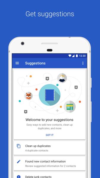 تطبيق جهات الاتصال Google Contacts من شركة جوجل أصبح متاحاً لجميع مستخدمى نظام الأندرويد