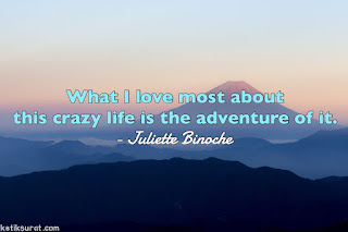quotes about adventure dan terjemahannya