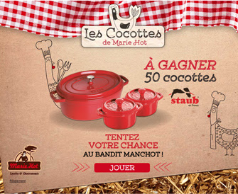 Instant gagnant 50 Cocottes Staub à gagner !