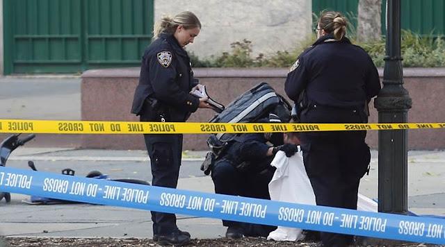 New York City, Lower Manhattan, Manhattan terror attack, US terror attack, new york van crash, us shooting, world news, Express