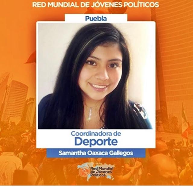 Samantha Oaxaca Gallegos es nombrada Coordinadora de Deporte de la Red Mundial de Jóvenes Políticos