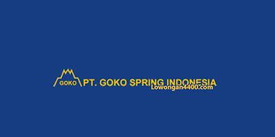 Lowongan Kerja PT. Goko Spring Indonesia Cikarang 2020