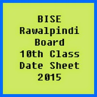 10th Class Date Sheet 2017 BISE Rawalpindi Board