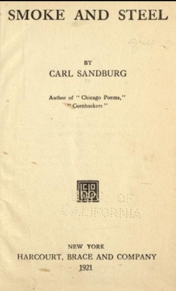 Smoke and Steel Book by Carl Sandburg in pdf