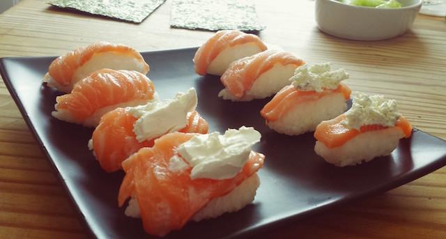 sushis saumon fromage
