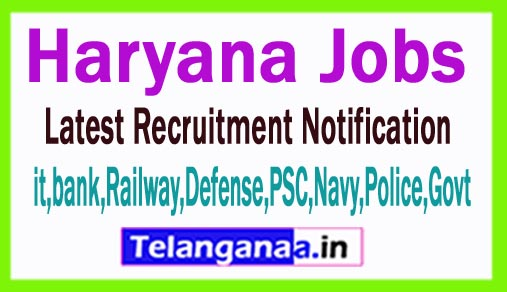 Latest Haryana Government Job Notifications