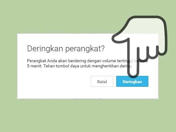 Menggunakan Android Device Manager - Deringkan hp