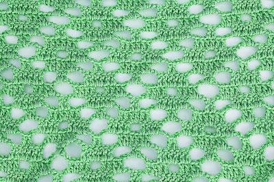 4 - Crochet Imagen Puntada a crochet de rombo muy fácil y sencilla por Majovel Crochet