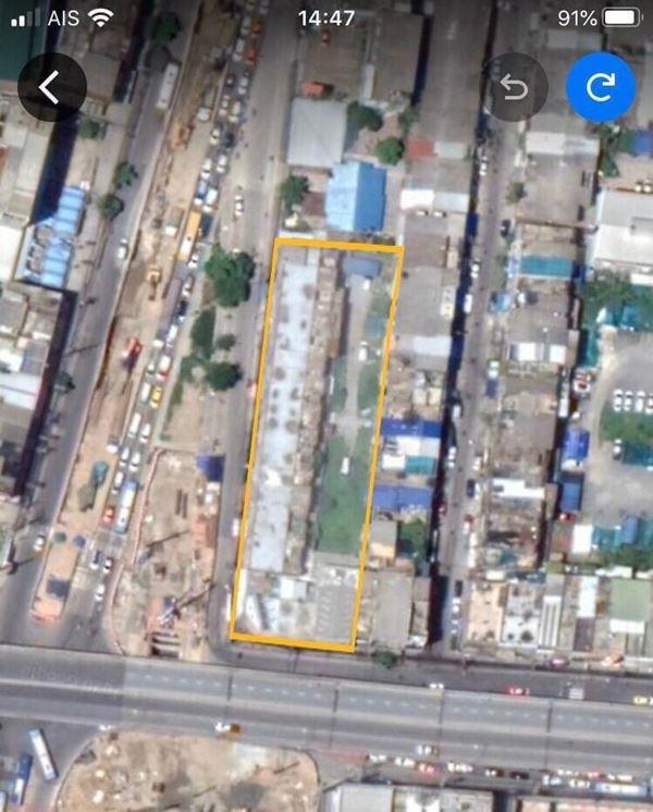 ขายที่ดินติดแยกลำสาลี ติดสถานีรถไฟฟ้า BTS 2สาย (สายสีส้ม ,สายสีเหลือง) ขนาด 1 ไร่ 1 งาน 76 ตรว.