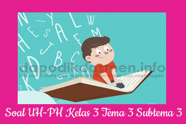 Soal UH PH Kelas 3 Tema 3 Subtema 3 Kurikulum 2013