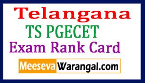 Telangana TS PGECET Exam Rank Card