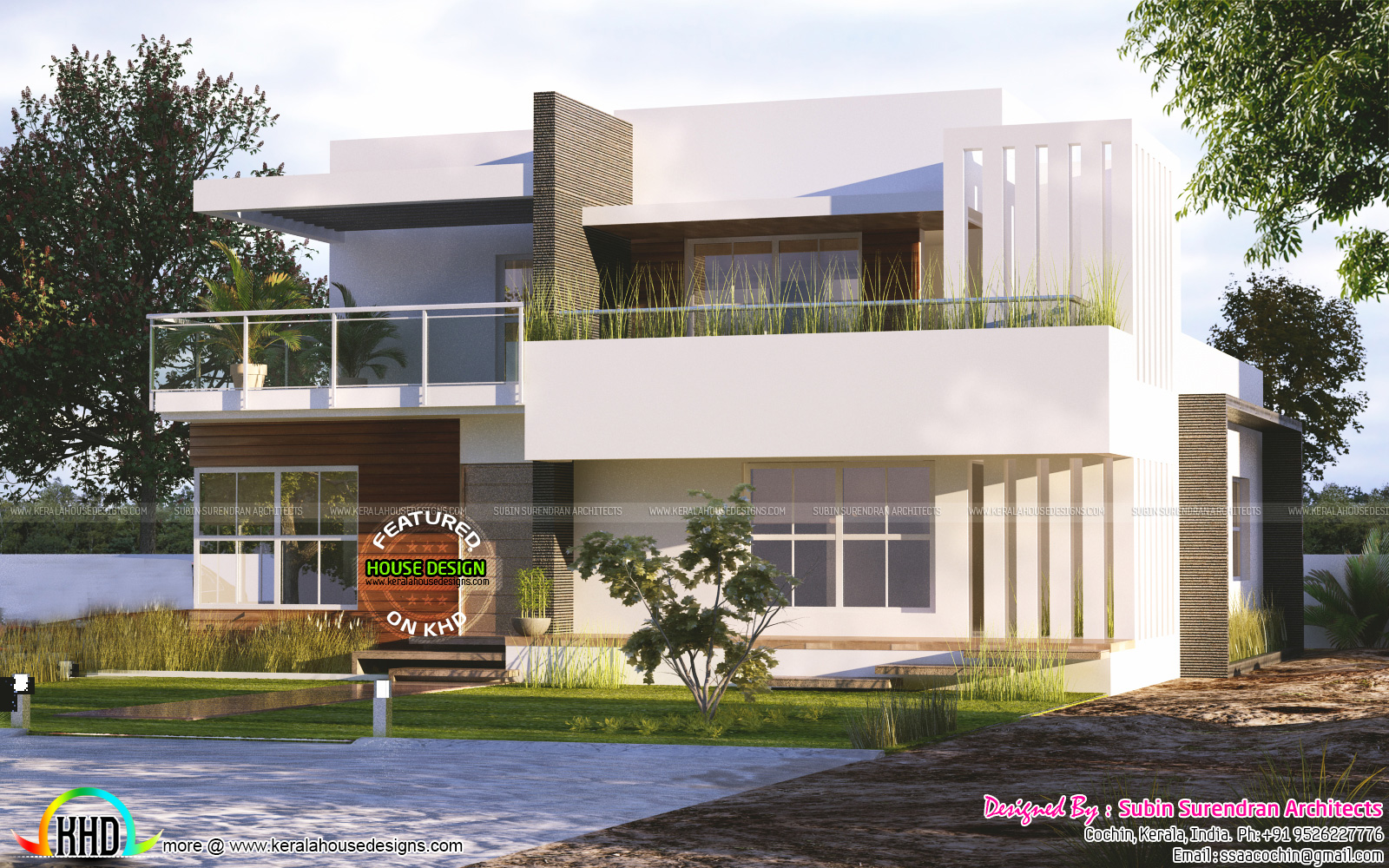3 Bhk Modern Flat Roof Home Plan Kerala Home Design And