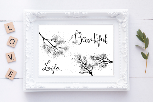 Beautiful Life Quote Printable Artwork