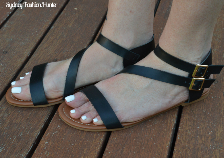 Naughty Monkey Black High Roller Sandals