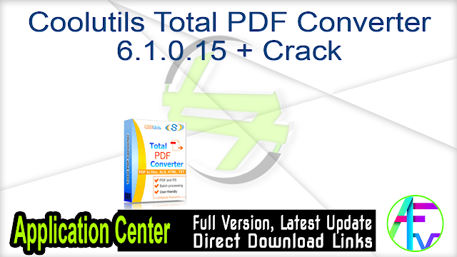 Coolutils Total PDF Converter 6.1.0.15 + Crack