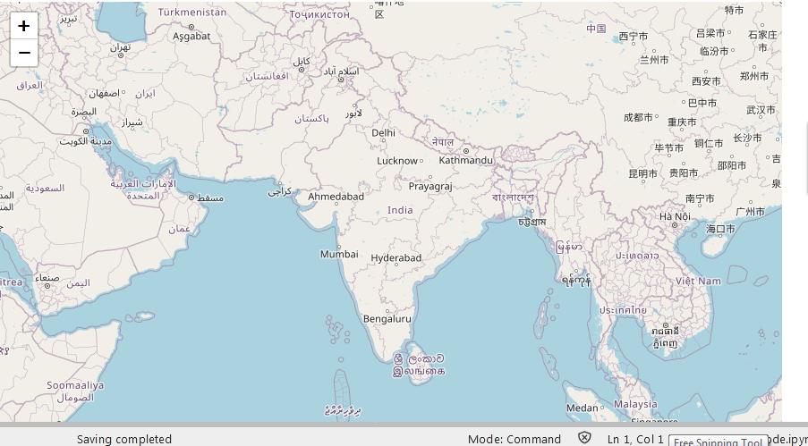 world map-centered around India.