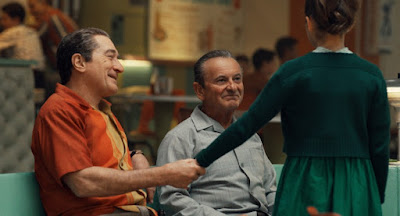 Robert De Niro, Joe Pesci, and Lucy Gallina in Netflix's The Irishman