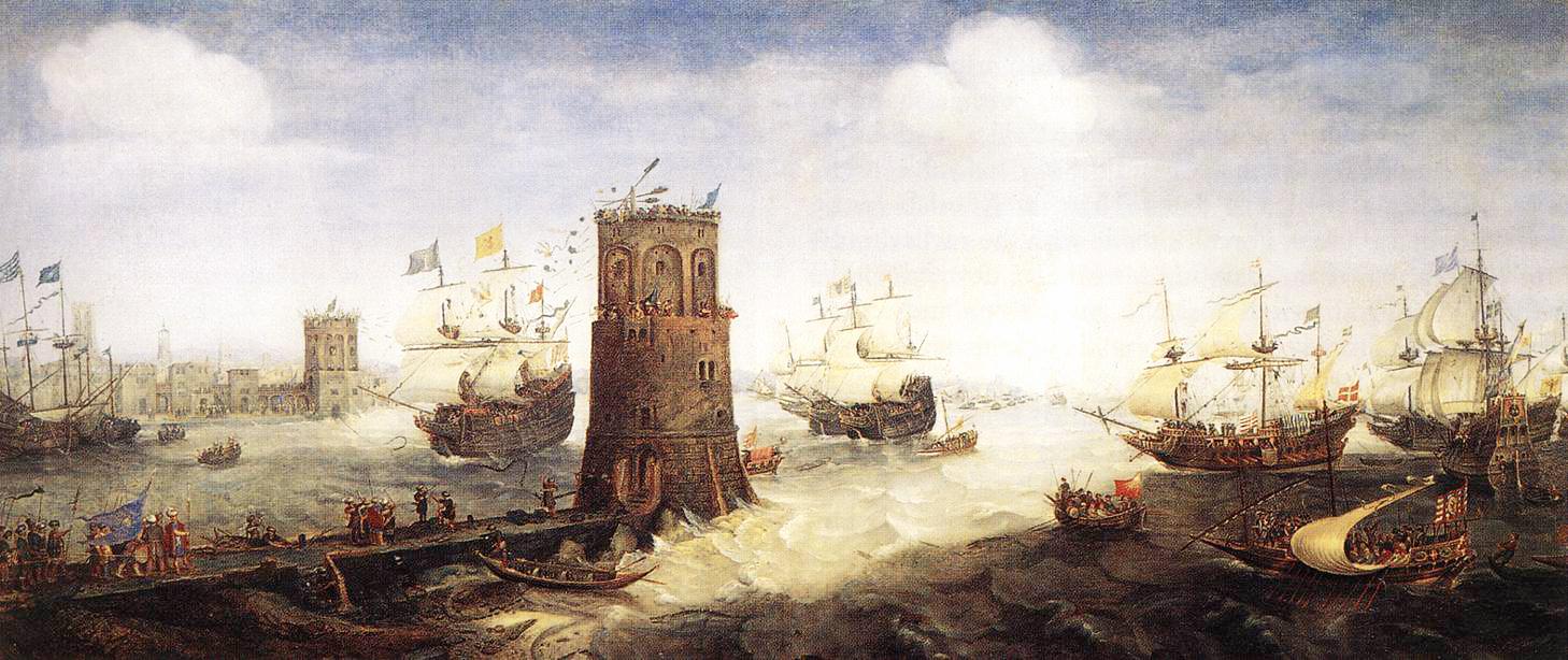 Lukisan Pelabuhan dan Kota Damietta di Mesir