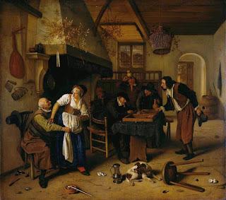 Una escena de una taberna de la época, para que os pongáis más en situación.