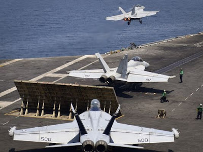 US Nimitz Carrier Strike Group Has Started launching Air Strikes Against ISIS In Syria And Iraq