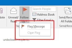 Cara menampilkan Follow Up Flags and Reminders untuk IMAP accounts di outlook 2016