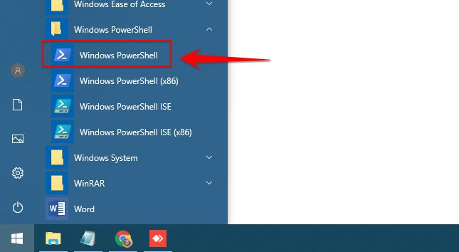 settingan ard di windows powershell