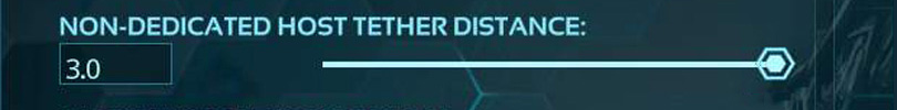 Non-Dedicated Host Tether Distance