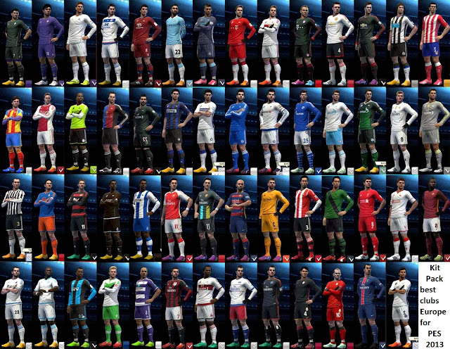 Kit Pack best clubs Europe 2016-2017 for PES2013
