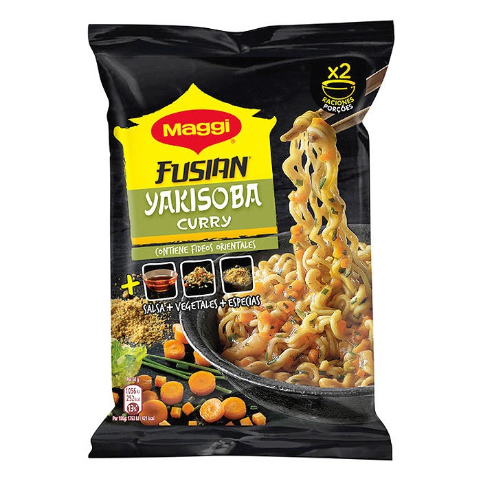 Ingredientes - Maggi Fusian Yakisoba Curry