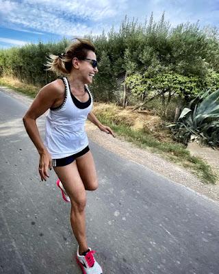 barbara d'urso foto corsetta jogging oggi 27 luglio Instagram