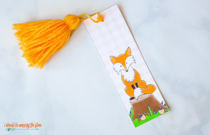 Printable Fox Bookmark
