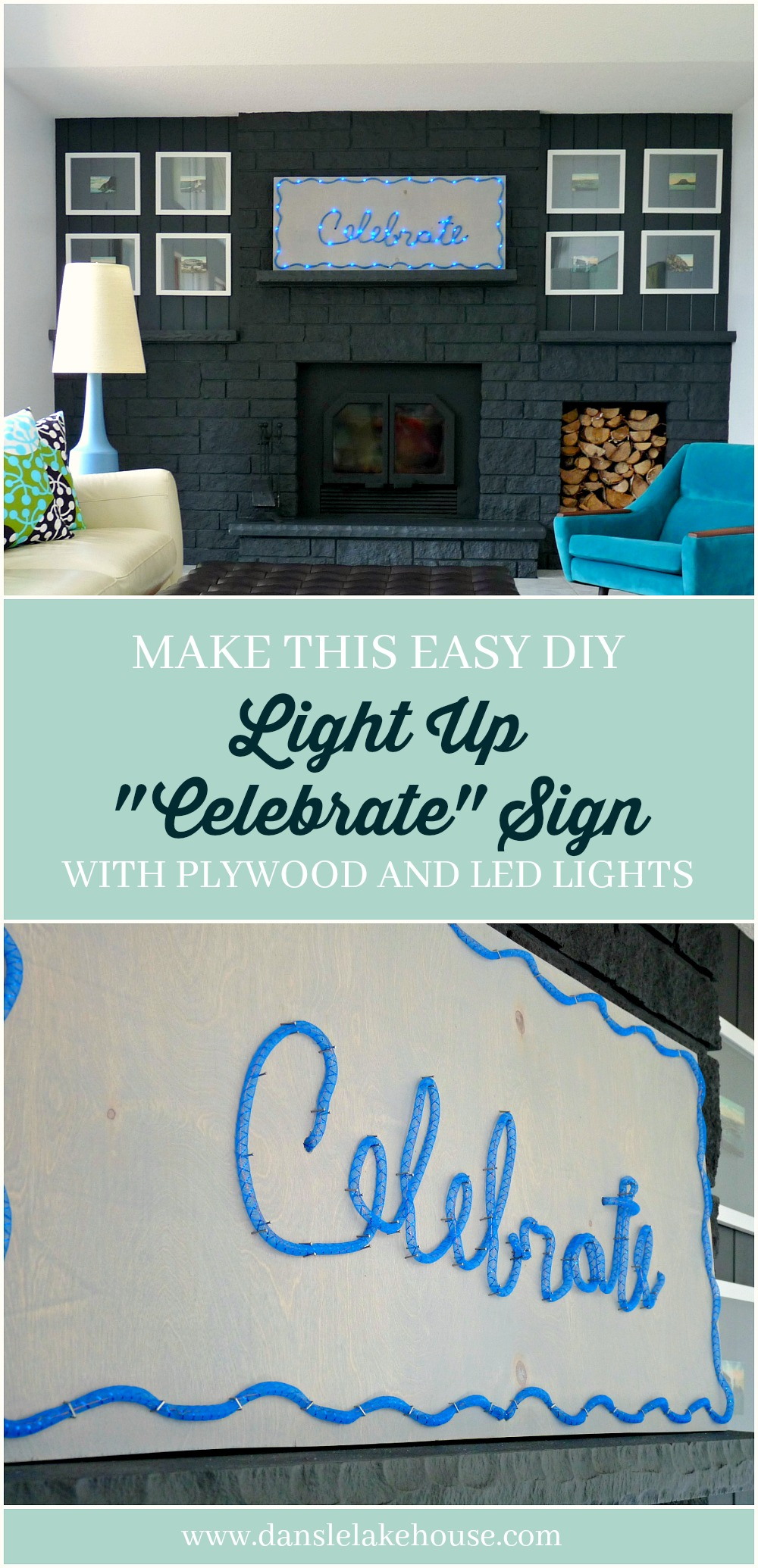 Easy DIY Light Up LED Celebrate Sign for Holiday Decorating