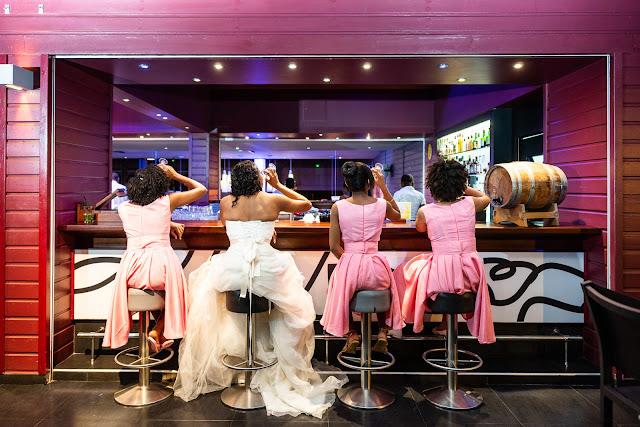mariage Guadeloupe Gosier réception Créole Beach au bar