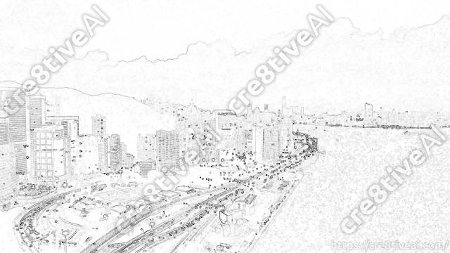 街並み_線画5
