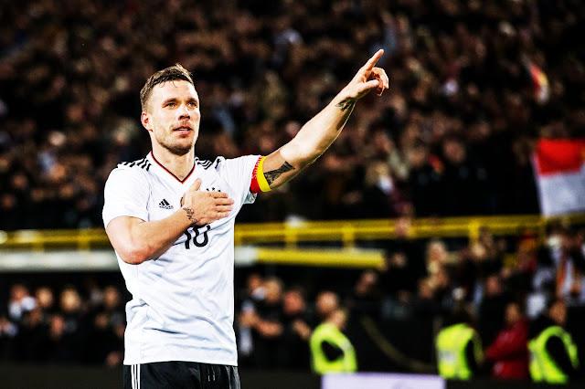 Podolski teve a despedida perfeita da seleção alemã