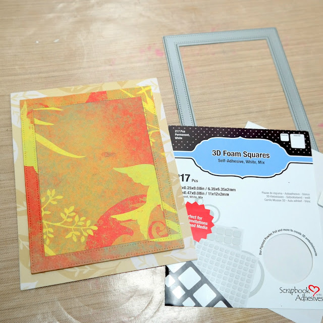 Building a Layerd Card Base with Scrapbook Adhesives 3D Foam Squares by Dana Tatar