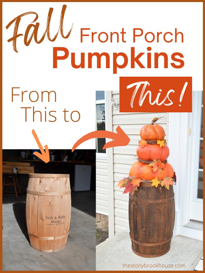 Fall Front Porch Pumpkins