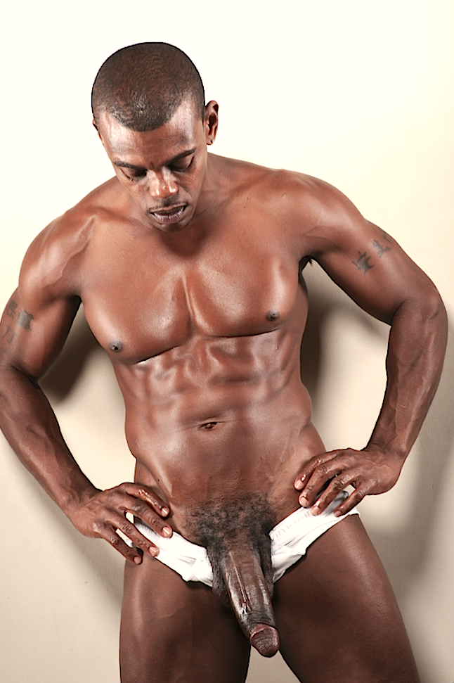 Ripped Black Hunk With Awesome Bubble Butt