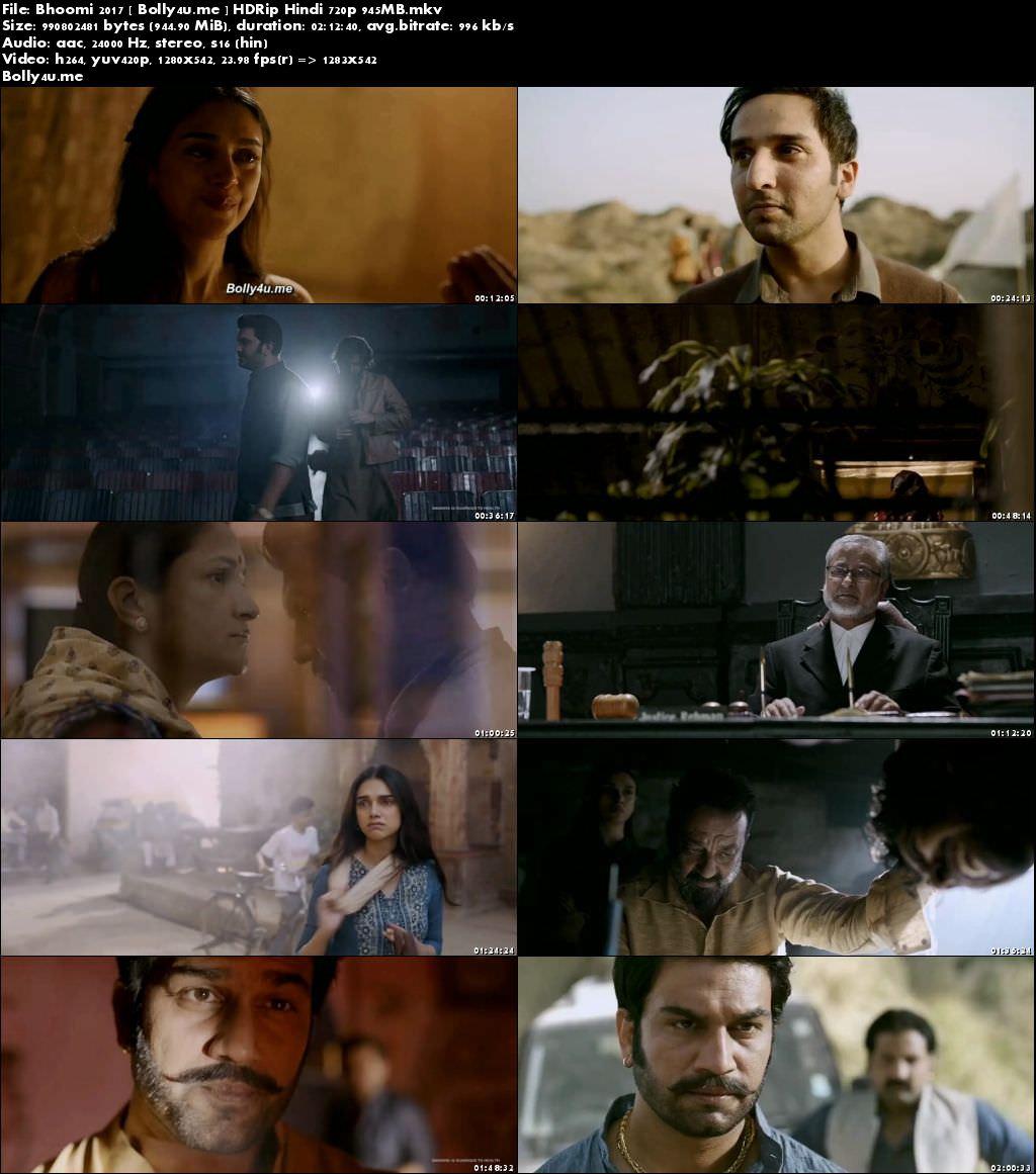 Bhoomi 2017 HDRip 350Mb Full Hindi Movie Download 480p