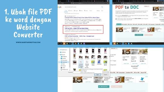 mengubah file pdf ke microsoft word dengan web converter 1