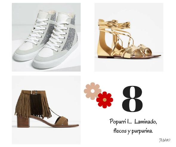 zapatos y sandalias primavera verano 2016 flecos