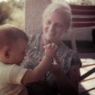 Young boy and his grandmother