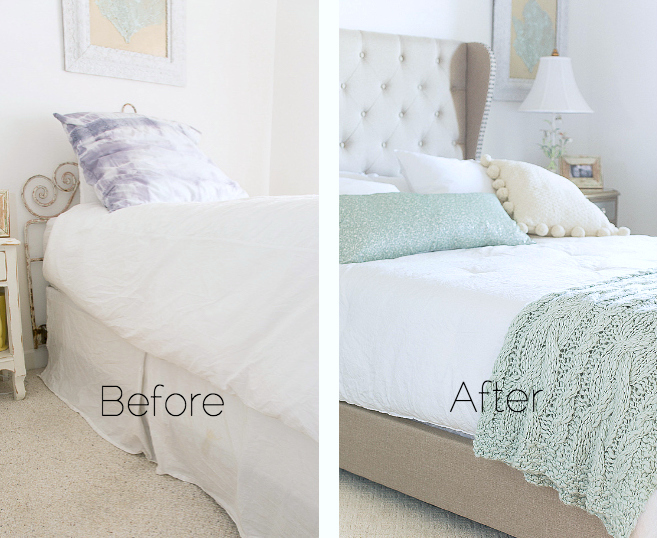 guest room design before after