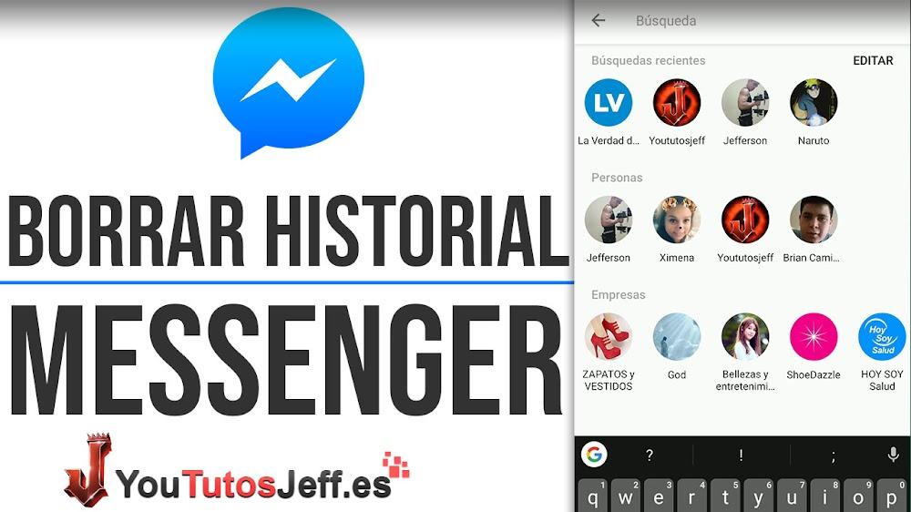 Como Borrar Historial de Búsqueda en Messenger - Trucos Messenger