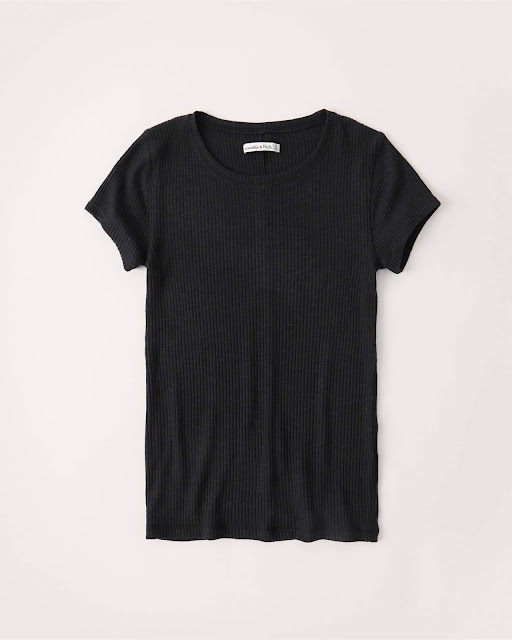 A&F Slim Ribbed Crew Tee