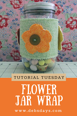 Homemade Spring Flower Fabric Canning Jar Wrap Sewing Project
