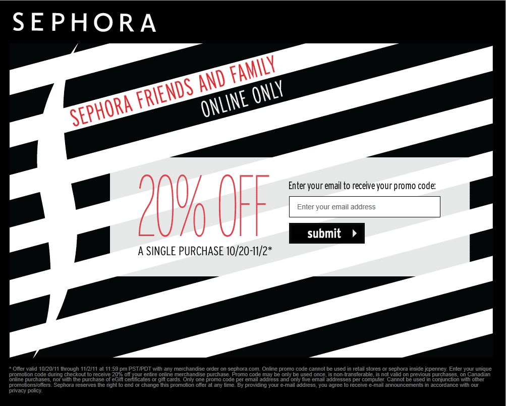 sephora friends and family sale