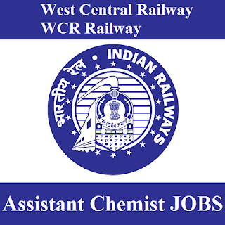 West Central Railway, WCR, Rajasthan, RAILWAY, Railway, Indian Railway, Assistant Chemist, 10th, freejobalert, Sarkari Naukri, Latest Jobs, wcr logo