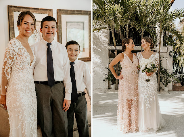 Bride with Family portraits The Manor on St Lucie Crescent Wedding captured by Stuart Wedding Photographer Heather Houghton Photography